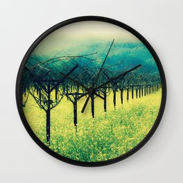 Winter Vineyard I - Serenity Wall Clock