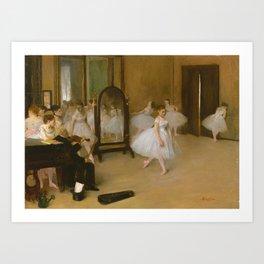 The Dancing Class by Edgar Degas, 1870 Art Print