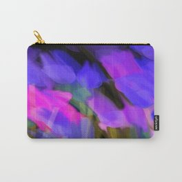 Meadow Flowers At Night in Purple and Pink Carry-All Pouch