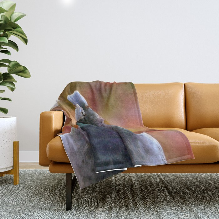 Curious Pigeon Throw Blanket