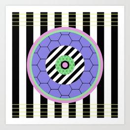 Bold Pastel Geometry Art Print