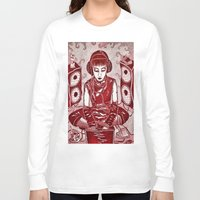 internet Long Sleeve T-shirts featuring Internet Girl by Yukska