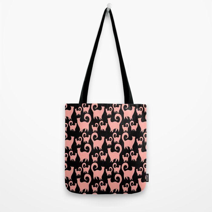 Pink Snobby Cats Tote Bag