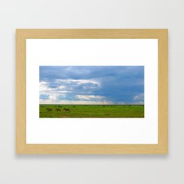 Zebra crossing Ndutu Framed Art Print