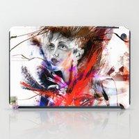 lara croft iPad Cases featuring miss lara croft by yossikotler