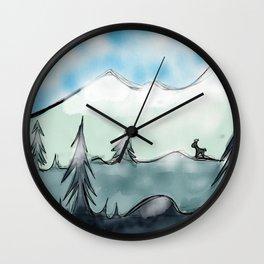 Snow dweller Wall Clock