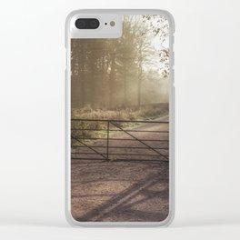 Sunrise towards Spruce Ride Clear iPhone Case