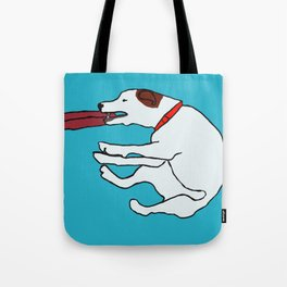 Dog with a frisbee Tote Bag