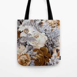 wintery floral Tote Bag