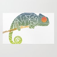 chameleon Area & Throw Rugs featuring Chameleon by soycocon