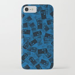 Tardis pattern iPhone Case