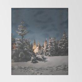 winter night Throw Blanket