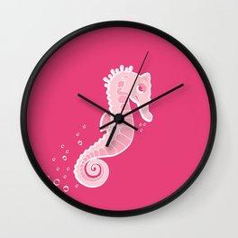 Apathetic Seahorse Wall Clock