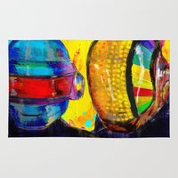 archan nair Area & Throw Rugs featuring Daft Punk by Archan Nair