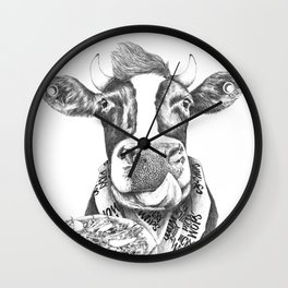 Picky Moo Wall Clock