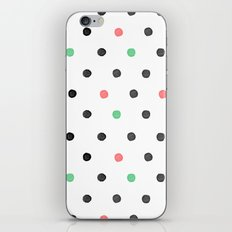 Watercolor Polka! iPhone & iPod Skin