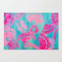 Pink Mandalas Canvas Print