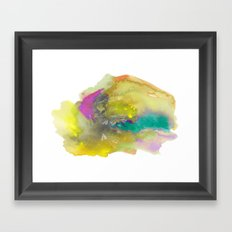 Planes in Watercolor Framed Art Print