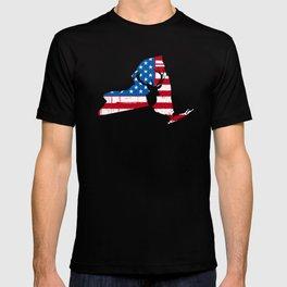 American Flag New York Deer Hunting T-Shirt T-shirt