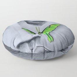 Buddha with Luna Moth Floor Pillow