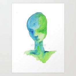 Waterface Art Print