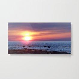 Double Sun Sunset Metal Print