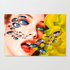 What You looking at? (collage) Canvas Print