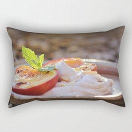 Cinnamon Baked Nectarines Rectangular Pillow