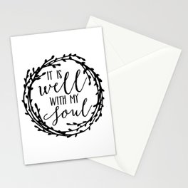 It is well with my soul wreath Stationery Cards