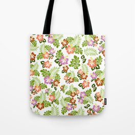 Hawaiian Pattern - White Background Tote Bag