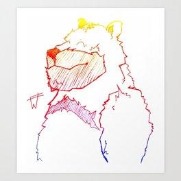 Bear Color Art Print
