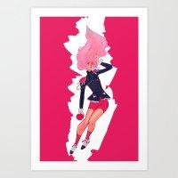 utena Art Prints featuring REVOLUTIONARY GIRL by SMOKESINATRA