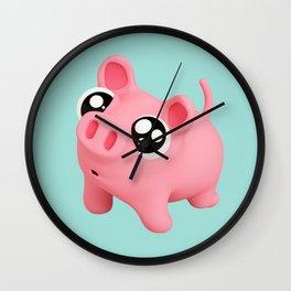 Rosa puppy eyes blue Wall Clock