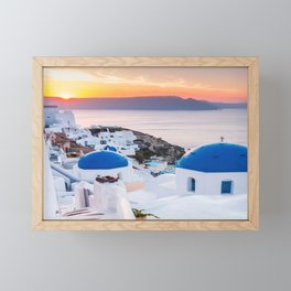 Santorini, Greece. Framed Mini Art Print