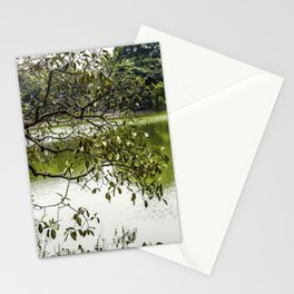 Tree Branches Hanging over the Emerald Green Colored Hoan Kiem Lake in Hanoi, Vietnam Stationery Cards
