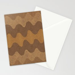 Retro Curves Whole Wheat Stationery Cards