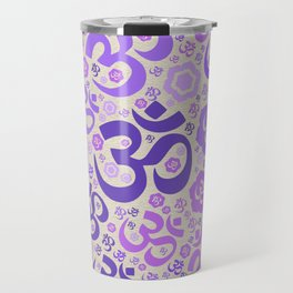 OM symbol pattern - purples on canvas Travel Mug