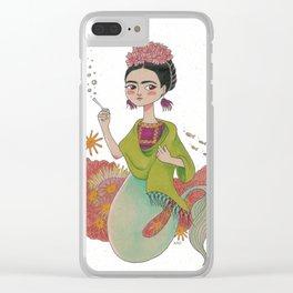 Mermaid Frida Clear iPhone Case