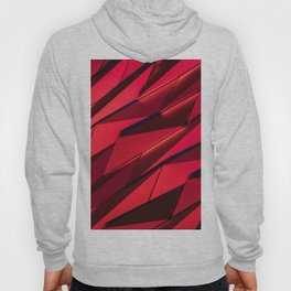 red abstraction geometric abstraction background 3d polygons background red geometric texture abstra Hoody