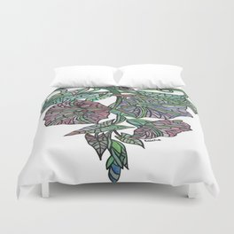 Art Nouveau Morning Glory Isolated Duvet Cover