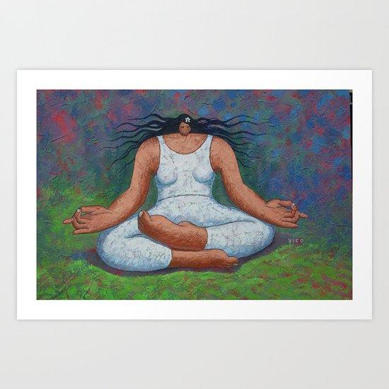 Lotus Pose Art Print