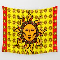 sublime Wall Tapestries featuring Sublime Sun #2 Psychedelic Character Design Logo by CAP Artwork & Design