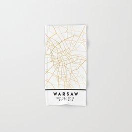 WARSAW POLAND CITY STREET MAP ART Hand & Bath Towel