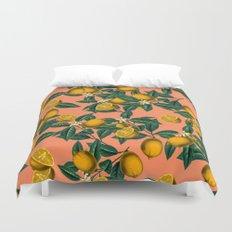 Lemon and Leaf Duvet Cover