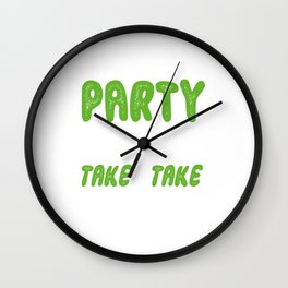 Introverted Sleeping Shy Lazy Sleepyhead Rest Introvert Introversion I Like To Party Funny Pun Gift Wall Clock