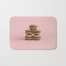 Macaroons on pink background Bath Mat
