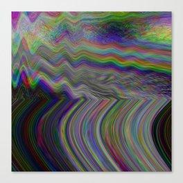 Digital pixel noise and glitch Canvas Print
