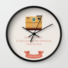What is my style ? Wall Clock