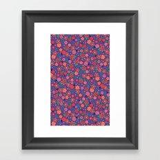 Lady Bug Flowers Framed Art Print