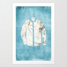 Blue Tshirt Art Print